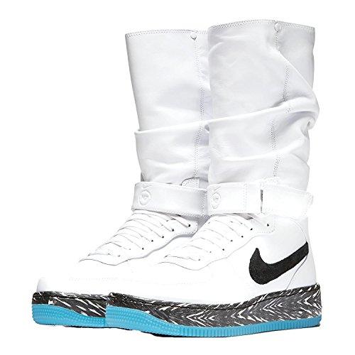 Womens Nike Air Force 1 Upstep Warrior N7 Sneakerboot 873308 103 White / Dark Turquoise / Black (7.5 M Us)