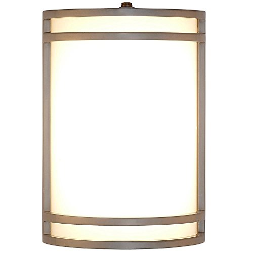 Cheap Modern Outdoor Wall Sconce | 10″ Clean Line Exterior Light | Silver Finish with Frosted Lens | 3000K LED Lighting with Dawn to Dusk Auto Sensor and No Bulb Required
