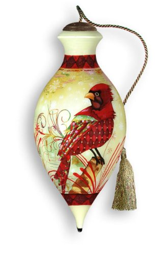 Glass Cardinal Christmas Ornament
