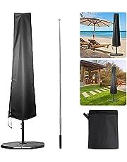 Parasolhoes, parasolafdekking met luchtventilatie, parasolafdekking met contractiestang, grote terrasparapluhoes, Cantilever Parasol, tuinparapluhoezen, waterdicht, winddicht, uv-bestendig buiten