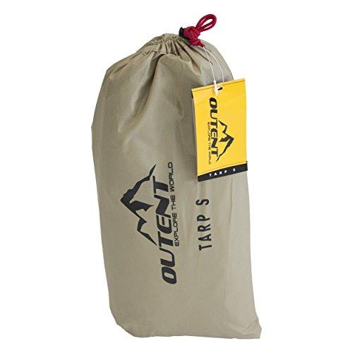 Outent® Tarp Regendach Zelt Plane wasserdicht, UV 30+ - Wassersäule 3000 mm - 3x3m und 3x4m