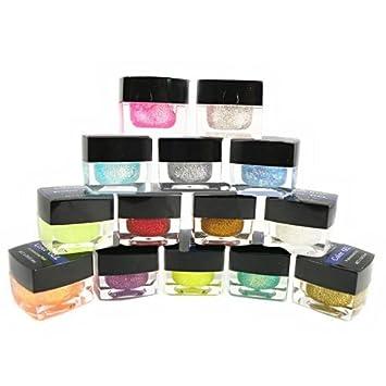 Amazon.com : Glitter Color UV Gel x 14 Colors CODE: #300 : Nail ...