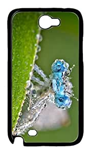 sparkly covers Dragonfly Water Drops PC Black case/cover for samsung galaxy N7100/2