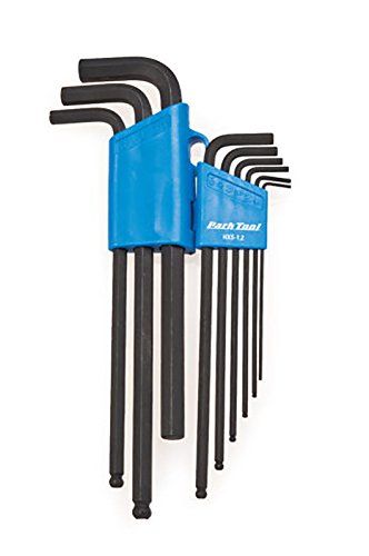 (Park Tool HXS-1.2 Professional L-Shaped 9 Piece 1.5-8mm & 10 Bike Hex Wrench Set)