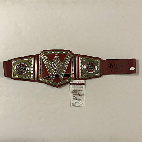 ulk Hogan Red Replica WWE Wrestling Championship Title Belt JSA COA ()