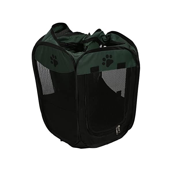 Childplaymate Folding Portable Pet Tent Playpen Exercise Play Dog Fence Puppy Kennel Green Click on image for further info. 7