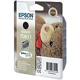 Epson Original T0611 Black Ink Cartridge - No External Packaging