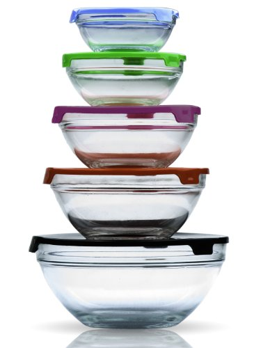 imperial home mw1640 glass mixing bowls glass food storage import it all. Black Bedroom Furniture Sets. Home Design Ideas