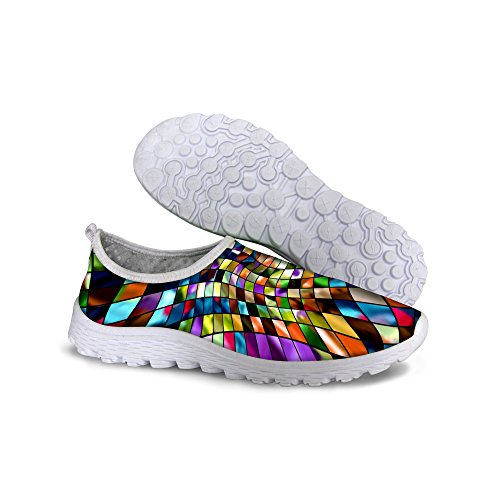 Shoes Multi Women's Running Slip on Mesh Pattern 1 DESIGNS FOR Fashion Colorful U 4pwv1xqHa
