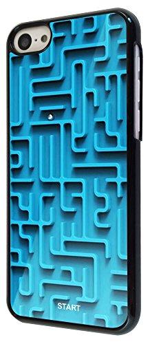 197 - Please Note this only a print Cool Fun maze Print Look Design iphone 5C Coque Fashion Trend Case Coque Protection Cover plastique et métal - Noir