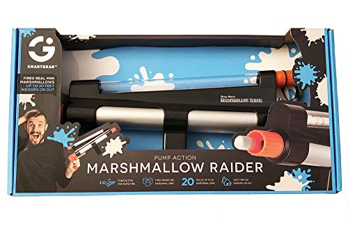 Smart Gear Pump-Action Marshmallow Raider! Holds Up 20 Mini Marshmallows! Fires Up to 30 feet! Perfect for Both Indoor and Outdoor Play!