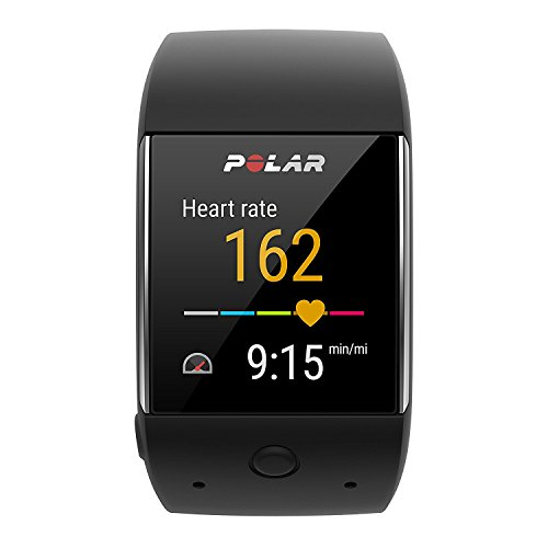 Polar M600 Sports Smart Watch With Built In GPS and Heart Rate Monitor and Wearable4U Wall Chargind Adapter Bundle