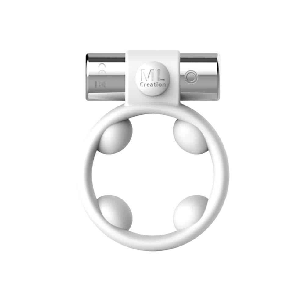 Lily's Love Anello del vibratore del silicone di vibrazione del silicone di vibrazione dell'anello di vibrazione del motore dell'anello di ritardo potente portatile di vibrazione di bianco