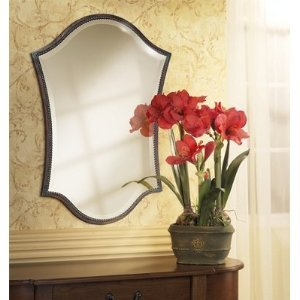 Unusual Shaped Arch Vanity Wall Mirror Bronze