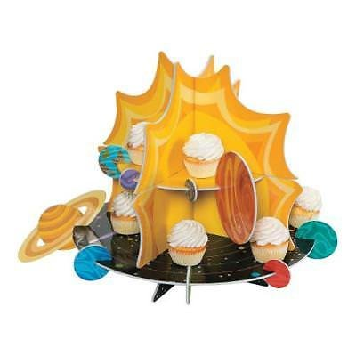 Fun Express Space Party Rocket Cupcake Stand