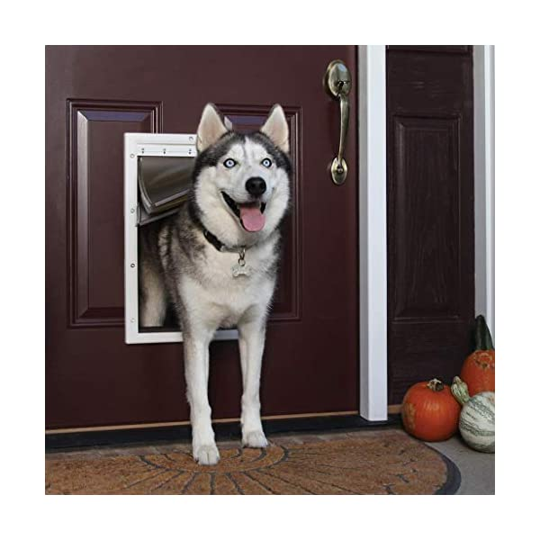 PetSafe Extreme Weather Energy Efficient Pet Door – 3 Flap System – For Large Dogs Up to 100 lb