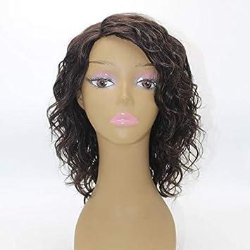Huanya 100% Human Hair Women's Short Curly