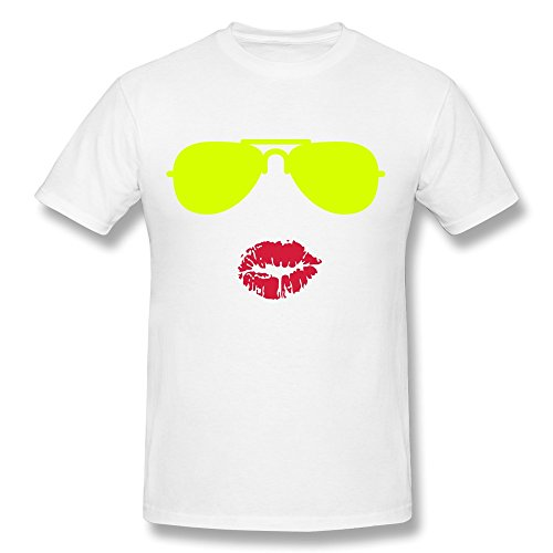 CHZS Men's Sunglasses Kisses T-Shirt - M White
