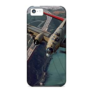 Case Cover, Fashionable Iphone 5c Case - Flying Over The Golden Gate