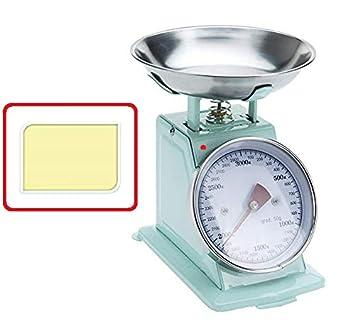 Meinposten Kuchenwaage Waage Retro Bis 3000g Rosa Blau Gelb Mint