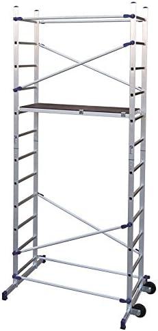 FACAL Clic - andamio (Mobile scaffolding, Aluminio, Aluminio, Azul, Italia, NFE 85-200): Amazon.es: Bricolaje y herramientas