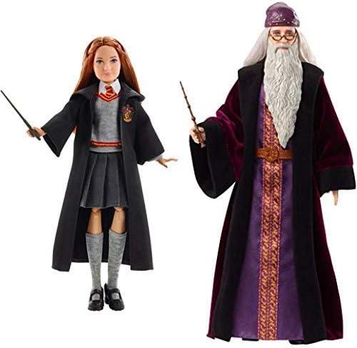 Mattel FYM53 - Harry Potter Ginny Weasley Puppe & FYM54 - Harry Potter Dumbledore Puppe