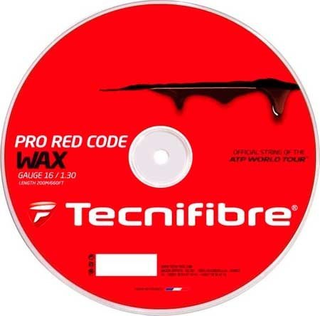 Tecnifibre PRWR Pro Redcode Wax Tennis String Reel Red - 18 Tennis String Reel