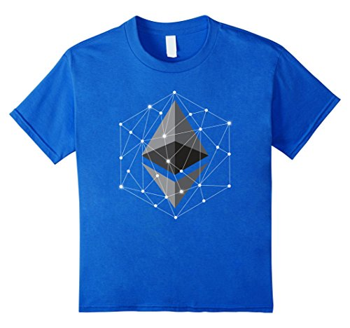 Kids Ethereum Polygon Network Connection Blockchain Tshirt 12 Royal Blue