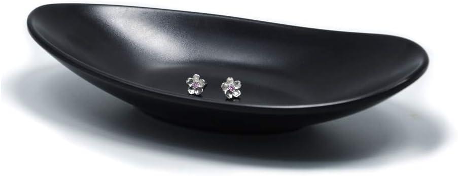 Kommode Dekor Schl/üssel Teller Schmuck Sch/üssel dekorative Schale oval schwarzer Ring Teller Schmuck Tablett Schl/üssel Ringschale Ringhalter Veranstalter