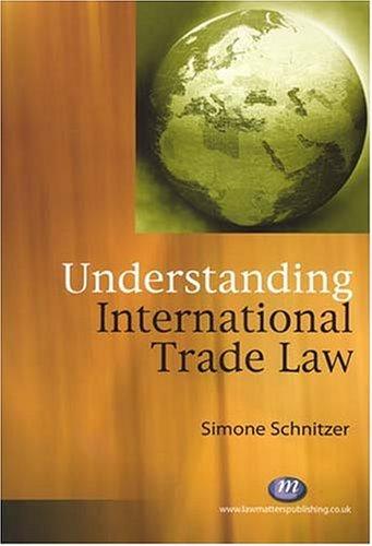 Understanding International Trade Law (Law Textbooks)