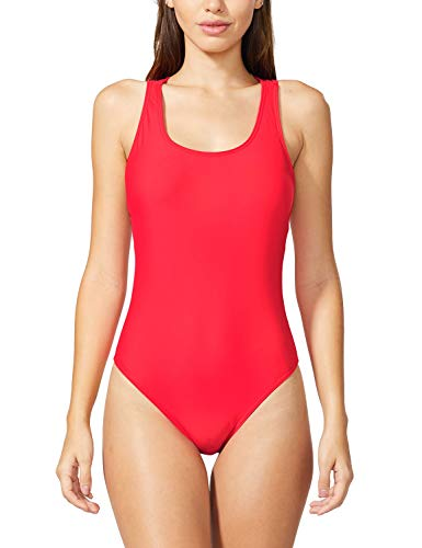 BALEAF Back Crisscross One Piece Bathing Suits for Women Sexy Monokini Swimsuits Red S