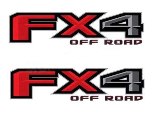 EZ CUT PRO 2X 2017 FX4 4X4 Off Road Decals Sticker F150 F250 F350 F450 - F Truck Super Duty Bed 4x4 Off Road Decals