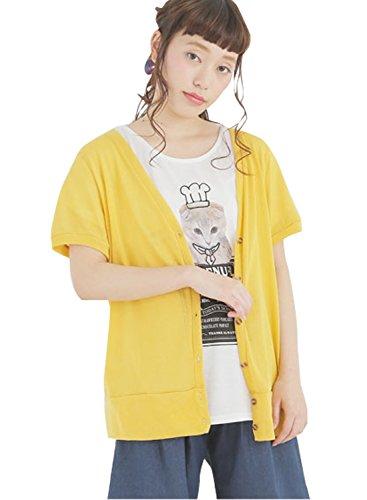 (ハッピーマリリン)A HAPPY MARILYN 大きいサイズ レディース 長袖 七分袖 半袖 シンプル カーディガン 体型カバー 805421