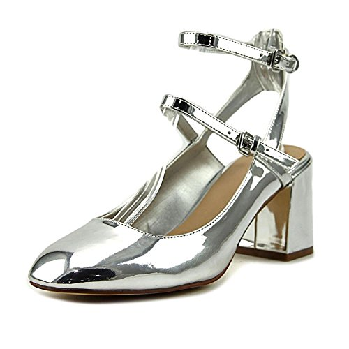 ALDO Womens Pergine Closed Toe Ankle Strap Classic Pumps, Silver, Size 6.5