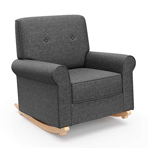 - Graco Harper Tufted Rocker, Night Sky Cleanable Upholstered Nursery Rocking Chair, Converts to Stationary Armchair