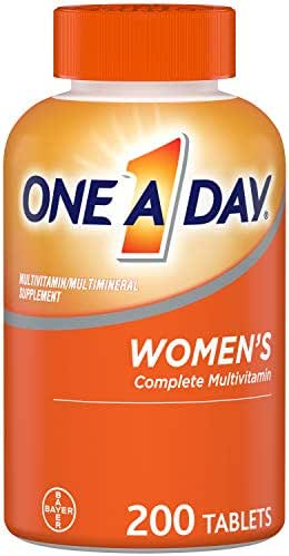 One A Day Women?s Multivitamin, Supplement with Vitamins A, C, E, B1, B2, B6, B12, Biotin, Calcium and Vitamin D, 200 Count