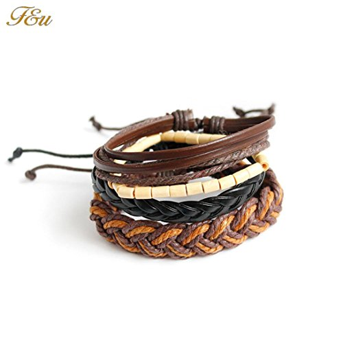 Celendi_ Jewerly New Hand Fancy Woven Bangles Leather