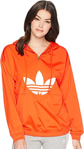 (adidas Originals Women's OG CLRDO Hooded Sweatshirt Bold Orange Small)
