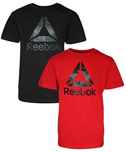 T-shirt Dry Reebok Play - Reebok Boys Performance Quick Dry Athletic Sports T-Shirt (2 Pack), Red/Black, Small / 8'