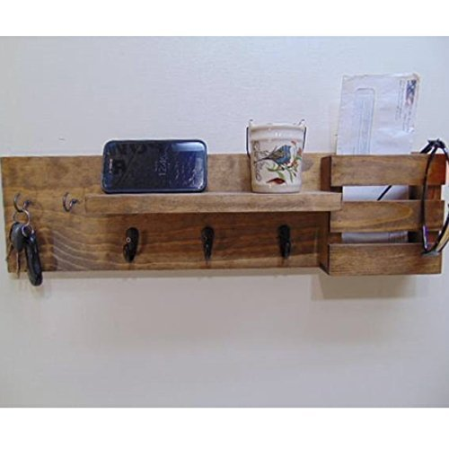 EntryWay Organizer - Mail Holder - Display Shelf - Coat Hooks