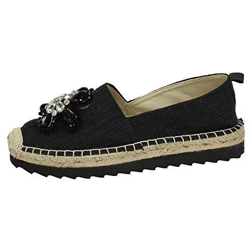 Femme 64413 Noir Refresh Chaussures Naturel n0P8wOk