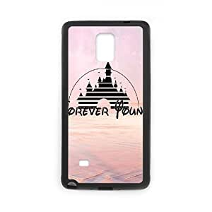 Custom Hard Plastic Back Case Cover for Samsung Galaxy Note 4 with Unique Design Forever Young