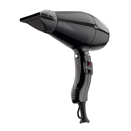 Gamma+ Aria Hair Dryer - Ultra Lightweight, Whisper Quiet with ETC Technology for Fastest Drying, Made in Italy by GammaPiu - Black