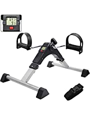 Hausse Folding Exercise Peddler Portable Pedal Exerciser with Electronic Display, Black