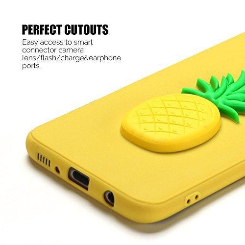 Funda para Samsung S8, Carcasa Galaxy S8 Anfire Suave Silicona Flexible Gel TPU Case Ultra Ligero Anti-Gota Anti Rasguños Bumper Cover para Samsung Galaxy S8 / G950F [5.8 Pulgadas] Blando Protectora T Piña