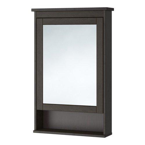 Ikea Mirror cabinet with 1 door, black-brown stain 24 3/4x6 1/4x38 5/8 -