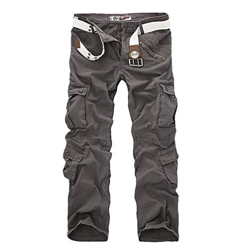 Tookang Camouflage Gris Cargo Hommes Combat Pantalon Mélange Décontractée De Coton qvqRrP