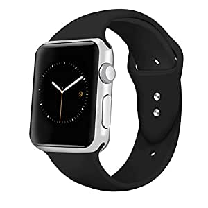 iGK Sport Band for Apple Watch, Soft Silicone Sport Strap Replacement Bands for iWatch Apple Watch Series 3, Series 2, Series 1 S/M M/L 42mm 38mm