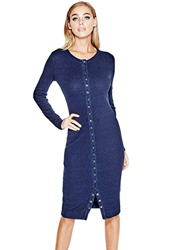 GUESS-Womens-Originals-Indigo-Ribbed-Dress