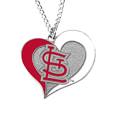 MLB St. Louis Cardinals Swirl Heart Necklace
